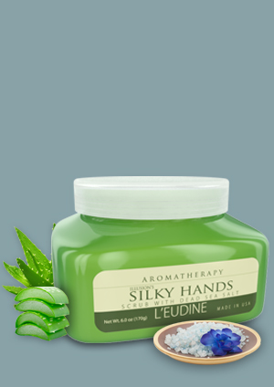 L'EUDINE SILKY<br>HANDS SCRUB<br>DEAD SEA SALT<br>
