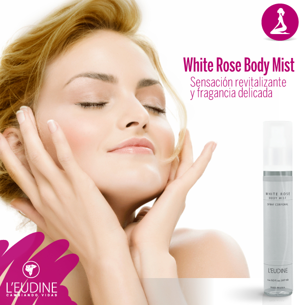 L'EUDINE WHITE ROSE BODY SPRAY LIMITED EDITION