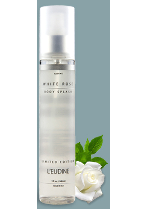 L'EUDINE<br>WHITE ROSE<br>BODY SPRAY<br>LIMITED EDITION<br>