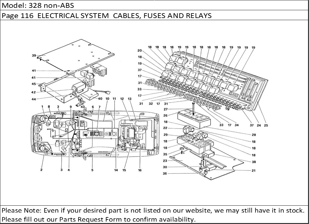 Diagram Page 116 Electrical System Cables Fuses And Relays: Ferrari Mondial T Wiring Diagram At Jornalmilenio.com