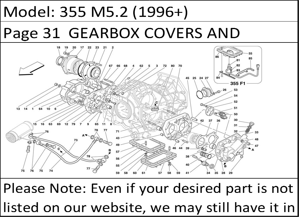 buy ferrari part # 133628 right rotation differential & camshaft, Wiring diagram