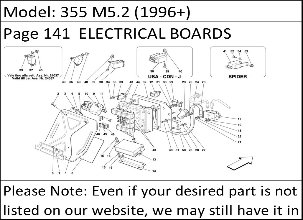 1968 buy ferrari part 175318 fuel pump relay, f50, f 50 348 f355, f ferrari 355 wiring diagram at crackthecode.co