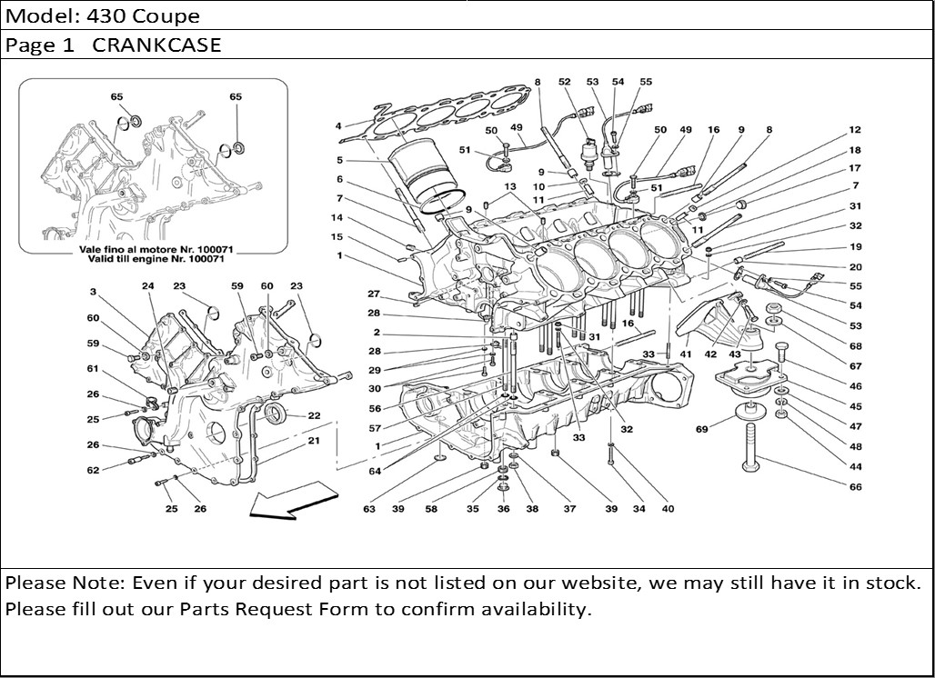 buy ferrari part engine mount f f old  430 coupe page 1 crankcase