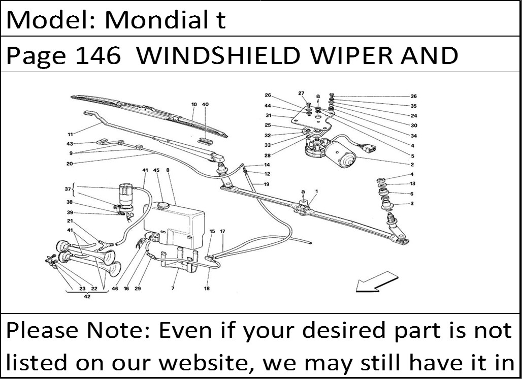 6008 buy ferrari part 61537500 black windsheild, windscreen washer ferrari 355 wiring diagram at crackthecode.co