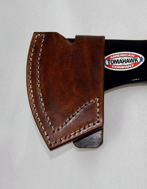 Hand made Cold Steel Rifleman hawk leather sheath