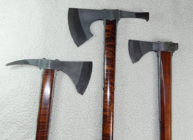 Hand forged fokos tomahawk head walking sticks