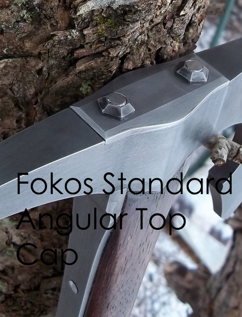 Hand forged fokos walking stick custom order top cap options