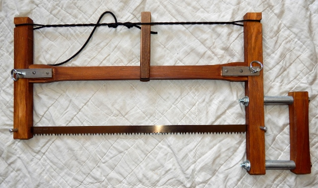 Hand made take-down frame saw