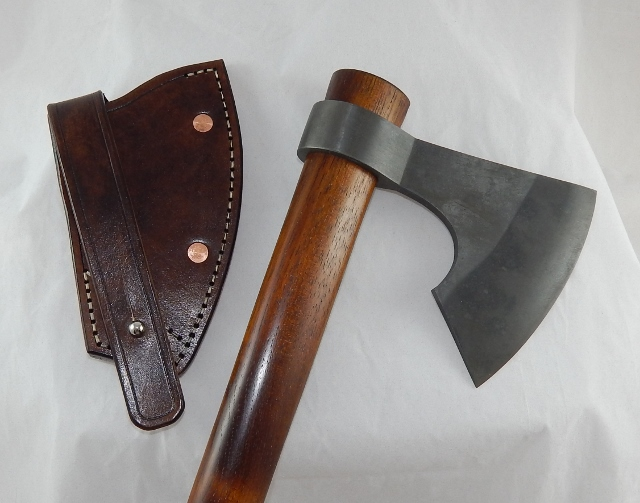 Hand forged bearded poll less tomahawk