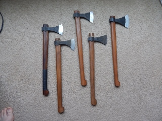Hand forged Viking Axes