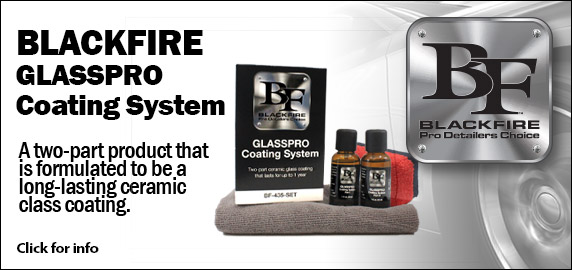 BLACKFIRE Glass Pro Coating!