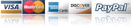 We accept all major credit cards for our uv curing lamps