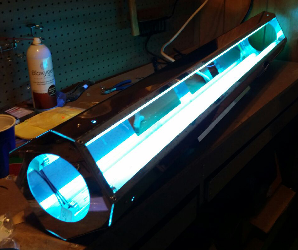 Fishing lure uv curing rig