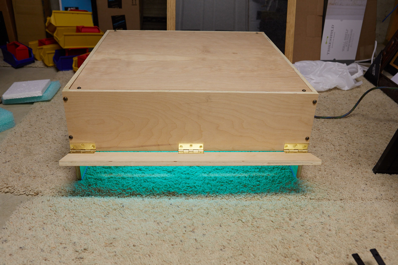 UV Curing rig using Solacure lamps, power on