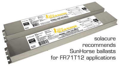 SunHorse ballasts for FR71 UV curing lamps