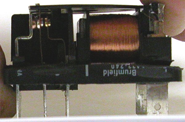 Inside a relay used for UV curing