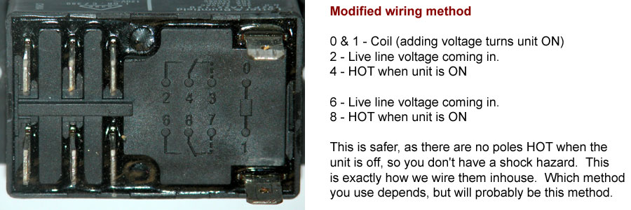 Wiring diagram for relay used for UV curing