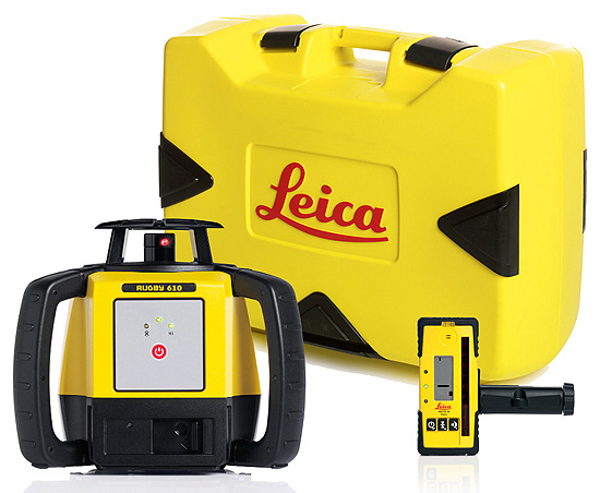 Leica Rugby 610 Rotating Laser Level Package