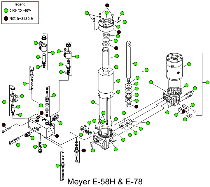 Meyer E-58h  U0026 E-78 Hydraulic Pump Parts