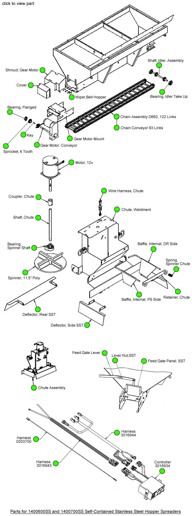 Saltdogg 1400600ss 1400700ss Salt Spreader Parts By Diagram
