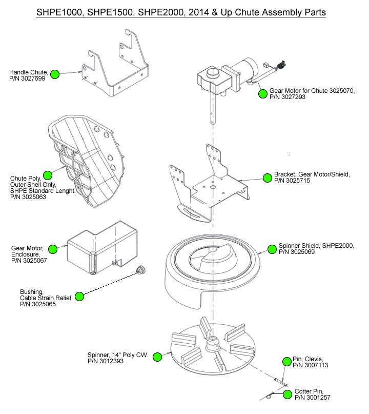Saltdogg 1000 1500 2000 New Chute Parts Diagram
