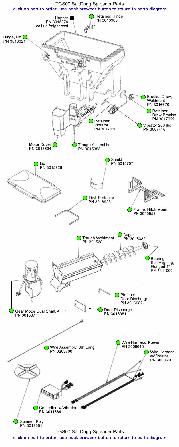 TGS07 SaltDogg Salt Spreader Parts by Diagram