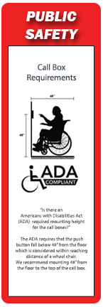 RATH® Security Public Safety and Blue Light Emergency Phones are ADA compliant
