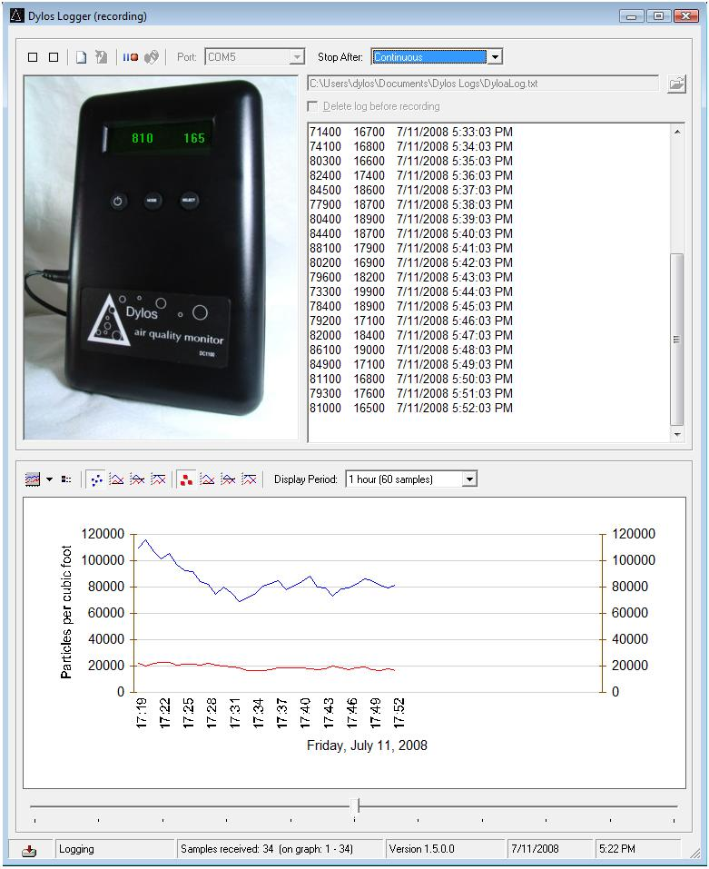 Dylos DC1100-PRO-PC Air Quality Monitor with Particle Counter