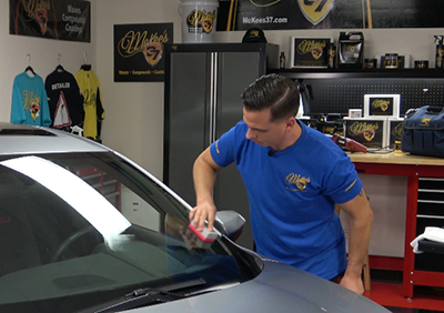 McKee's 37 Glass Coating repels rain and snow