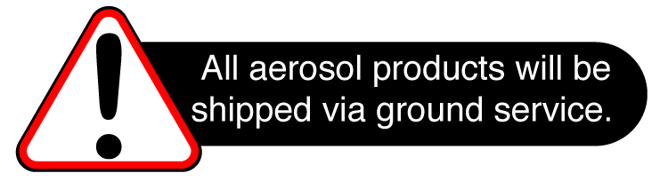 Aerosol products can only be shipped via ground service