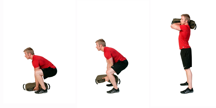 sandbag exercise shouldering