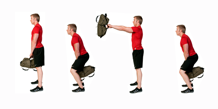 sandbag exercise - sandbag swing