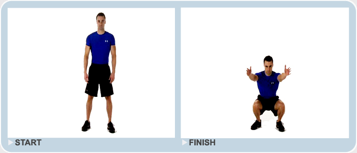intermediate exercise - squats