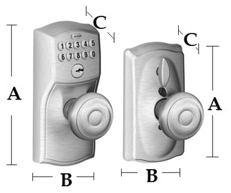 Schlage Fe595 Camelot Keypad Entry With Flex Lock Georgian