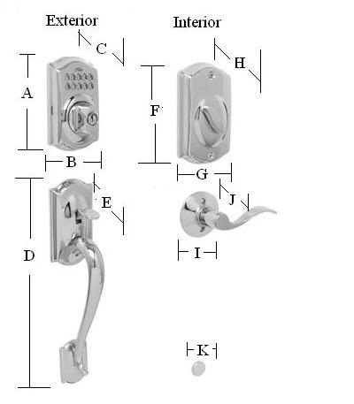 Schlage Locks Parts Diagram With Camelot Keypad Handleset Dimensions Schlage With Accent Lever Trim Satin Nickel