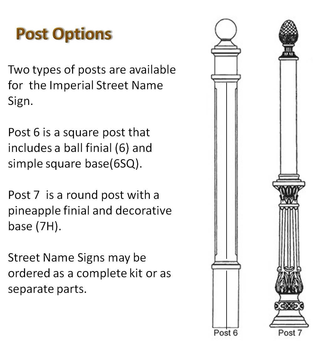 Imperial Street Sign Post
