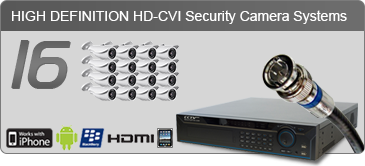 HD security camera systems, 16 camera security system