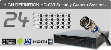 HD security camera systems, 24 camera security system