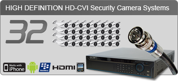 HD security camera systems, 32 camera security system