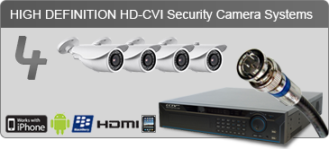 4 HD camera system, surveillance camera system