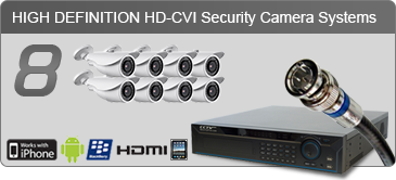 8 HD camera security system, HD security camera systems