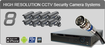 security camera systems,8 Camera Systems