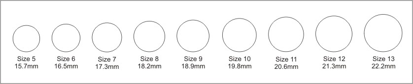 Overstock Silver S Ring Size Chart