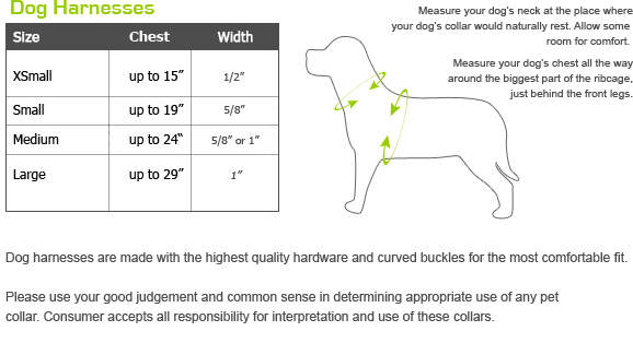 Gwen Gear Dog Harnesses Size Chart