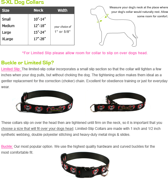 Gwen Gear Dog Collar Size Chart