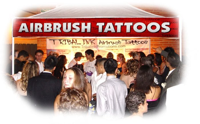Airbrush Tattoo Canopy Wall Display with Stencils Pro Pack 1