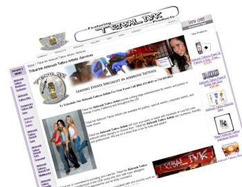 airbrush tattoo artist web-page