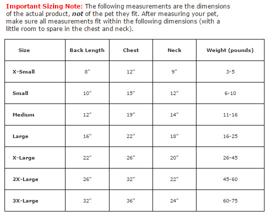 Alpine Coat Sizing Guide