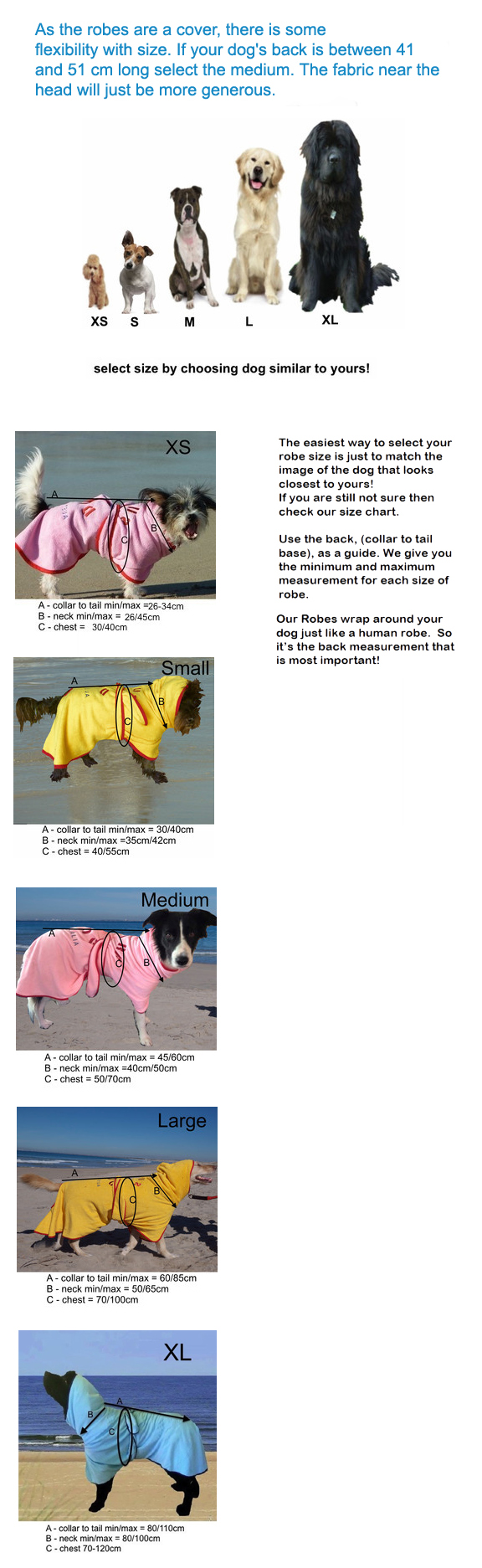 dog drying coats sizing guide surfdog australia
