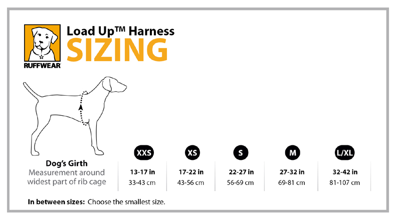 Ruffwear Load Up Harness Sizing